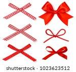 vector set of decorative... | Shutterstock .eps vector #1023623512