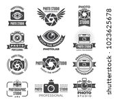 logotypes and symbols of photo... | Shutterstock .eps vector #1023625678
