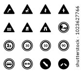 solid vector icon set   turn...   Shutterstock .eps vector #1023627766
