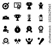 solid vector icon set   target... | Shutterstock .eps vector #1023629065