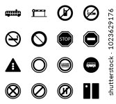 solid vector icon set   airport ... | Shutterstock .eps vector #1023629176