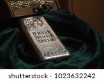 a bar of silver  | Shutterstock . vector #1023632242