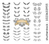 collection of vintage... | Shutterstock .eps vector #1023633955