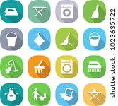 flat vector icon set   iron... | Shutterstock .eps vector #1023635722