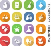 flat vector icon set   cleanser ... | Shutterstock .eps vector #1023635746