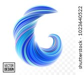 abstract vector digital color... | Shutterstock .eps vector #1023640522