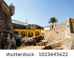 the medieval fortress of... | Shutterstock . vector #1023645622