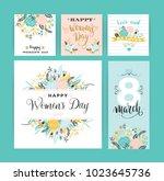 international women's day....   Shutterstock .eps vector #1023645736