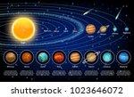 solar system planets set.... | Shutterstock .eps vector #1023646072