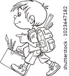 child goes to school | Shutterstock .eps vector #1023647182