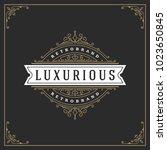 ornament logo design template... | Shutterstock .eps vector #1023650845