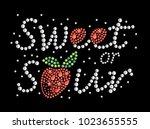 rhinestone applique valentine's ... | Shutterstock .eps vector #1023655555