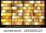gold gradient background set... | Shutterstock .eps vector #1023656125