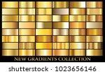 gold gradient set background... | Shutterstock .eps vector #1023656146