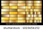 gold gradient background set... | Shutterstock .eps vector #1023656152