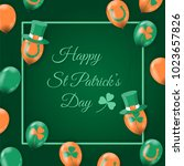 happy st patrick's day card... | Shutterstock .eps vector #1023657826