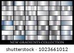 silver gradient set background... | Shutterstock .eps vector #1023661012
