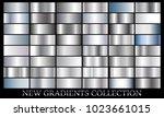 silver gradient set background... | Shutterstock .eps vector #1023661015