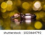 wedding rings. close up | Shutterstock . vector #1023664792