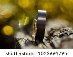 wedding rings. close up | Shutterstock . vector #1023664795
