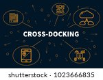 conceptual business... | Shutterstock . vector #1023666835