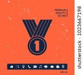 medal symbol icon   Shutterstock .eps vector #1023667198