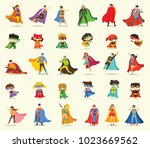 vector illustrations in flat... | Shutterstock .eps vector #1023669562