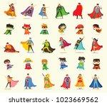 vector illustrations in flat... | Shutterstock .eps vector #1023669562