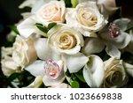 beautiful wedding bouquet | Shutterstock . vector #1023669838