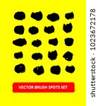 vector brush spots set. painted ... | Shutterstock .eps vector #1023672178
