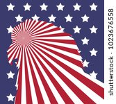 american flag  bald eagle head... | Shutterstock .eps vector #1023676558