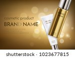 a beautiful cosmetic ads... | Shutterstock .eps vector #1023677815