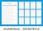 calendar planner for 2018 year. ... | Shutterstock .eps vector #1023678112