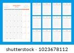 calendar planner for 2018 year. ... | Shutterstock .eps vector #1023678112