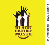 black history month vector... | Shutterstock .eps vector #1023680545
