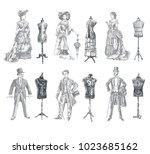 ladies and gentlemen body... | Shutterstock .eps vector #1023685162