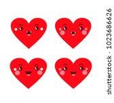 vector illustration. funny four ... | Shutterstock .eps vector #1023686626