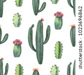 watercolor seamless pattern of... | Shutterstock . vector #1023696862