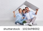 concept housing a young family. ... | Shutterstock . vector #1023698002