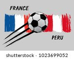 flags of france and peru   icon ... | Shutterstock .eps vector #1023699052