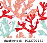 hand drawn seamless vector... | Shutterstock .eps vector #1023701182