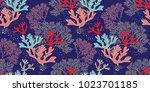hand drawn seamless vector... | Shutterstock .eps vector #1023701185