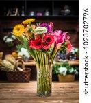 spring flower bouquet...   Shutterstock . vector #1023702796