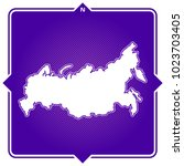 simple outline map of russian... | Shutterstock .eps vector #1023703405