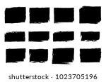 set of grunge rectangle borders ... | Shutterstock .eps vector #1023705196