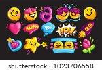 smiley face vector icon set....   Shutterstock .eps vector #1023706558