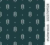 pine tree icon seamless vector... | Shutterstock .eps vector #1023709528
