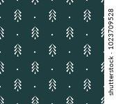 pine tree icon seamless vector... | Shutterstock .eps vector #1023709528