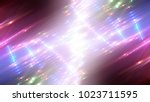 abstract shiny neon background... | Shutterstock . vector #1023711595