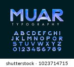 vector of stylish stylized font ... | Shutterstock .eps vector #1023714715
